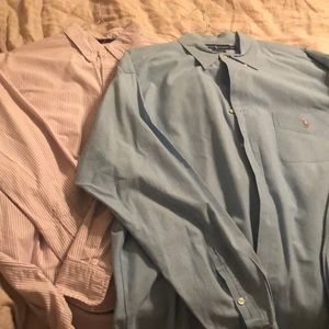 Lot of 2 Ralph Lauren Shirts Size XL